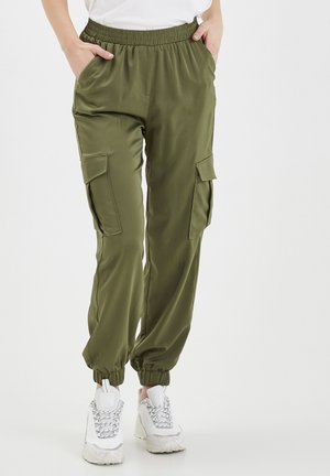 BXJUNOL PANTS W. POCKETS WOVEN - Trousers -  green