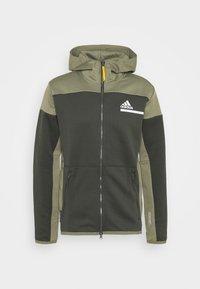 adidas Performance - HOODIE AEROREADY HOODED TRACK  - Zip-up hoodie - dark green - 0
