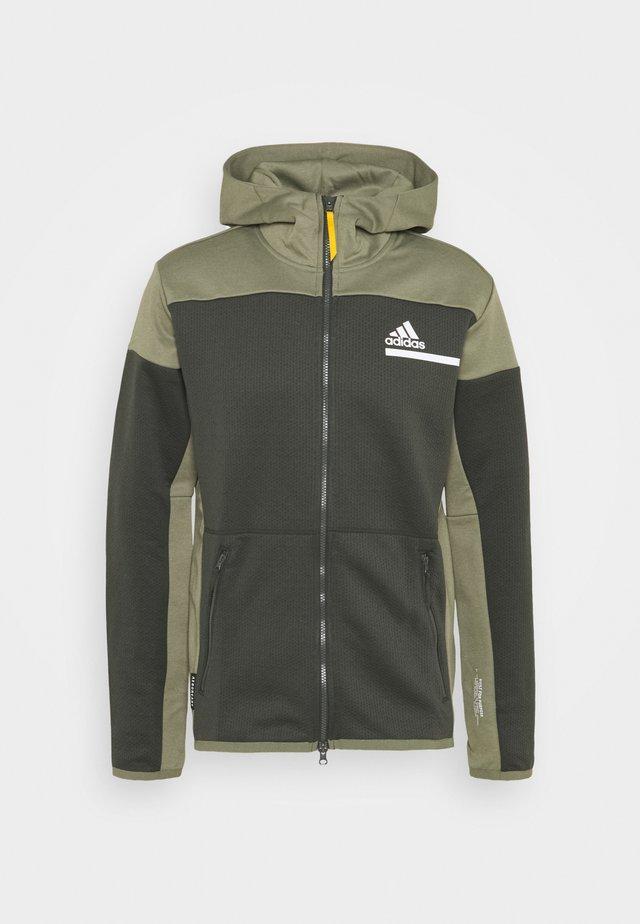 HOODIE AEROREADY HOODED TRACK  - Zip-up hoodie - dark green