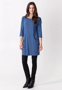 Indiska - LINDEN - Jersey dress - blue - 0