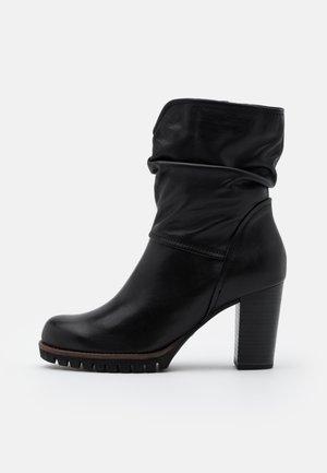 BOOTS - Platform ankle boots - black antic