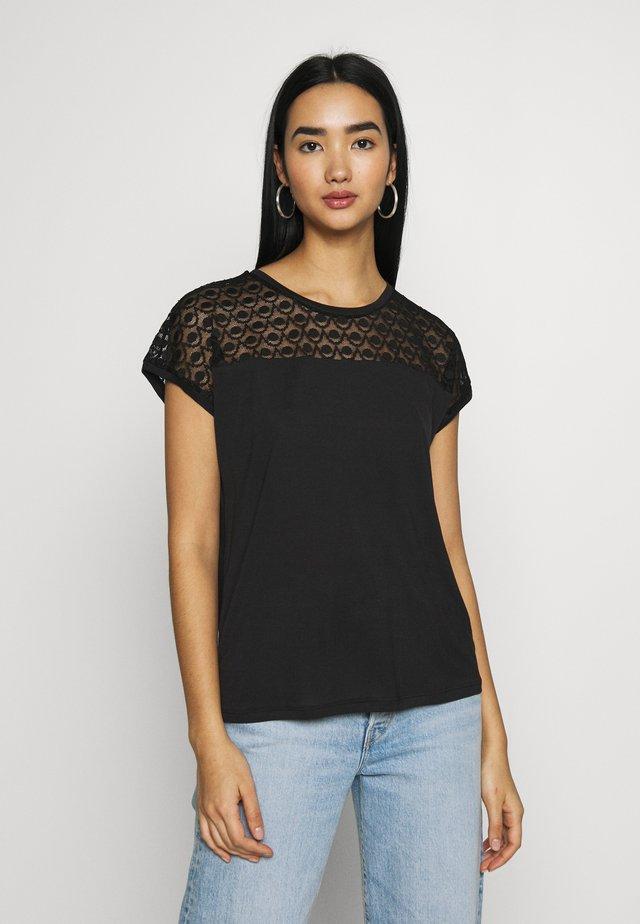 VMSOFIA LACE TOP - T-shirt basic - black