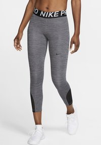Nike Performance - CROP - Legginsy - black, dark grey - 0