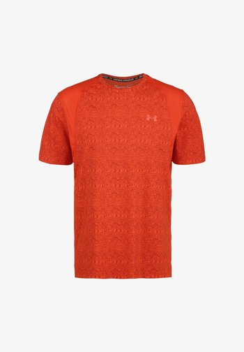 Sports shirt - dark orange / reflective