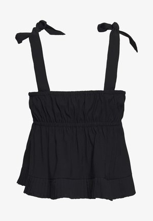 PLEATED HEM DETAIL BOW TIE CAMI - Top - black
