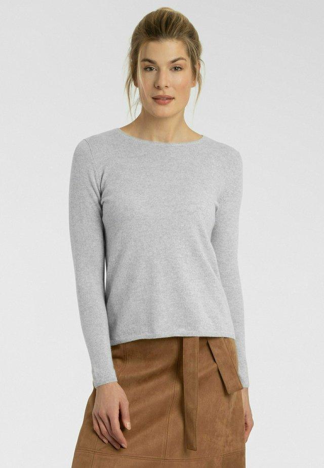 Pullover - silber melange