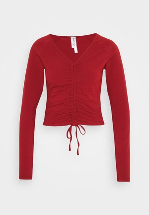 CROPPED TIE - Topper langermet - red