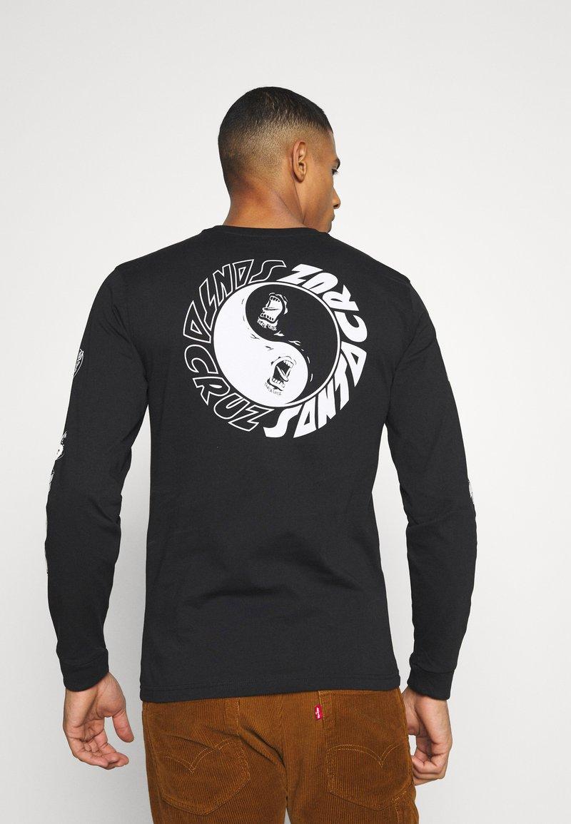 Santa Cruz - SCREAM YING YANG UNISEX - Camiseta de manga larga - black