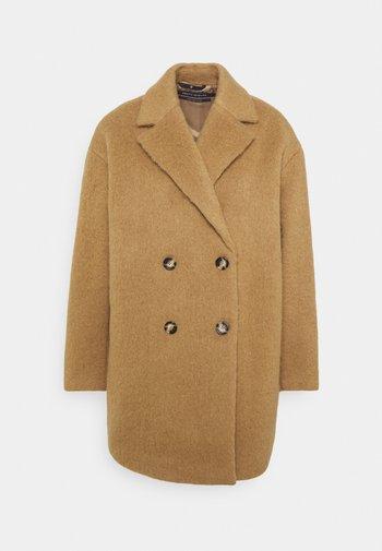 COAT - Classic coat - faded tobacco