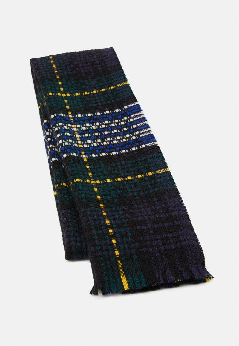 Johnstons of Elgin - 100% CASHMERE BASKET TARTAN SCARF UNISEX - Scarf - green/blue
