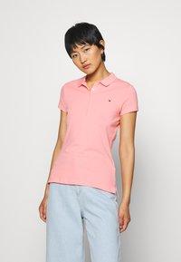 Tommy Hilfiger - SHORT SLEEVE SLIM - Poloshirts - watermelon pink - 0