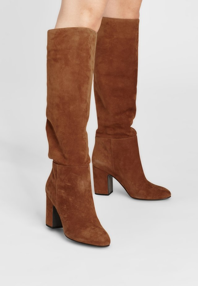 VIDKA - High heeled boots - cognacbraun