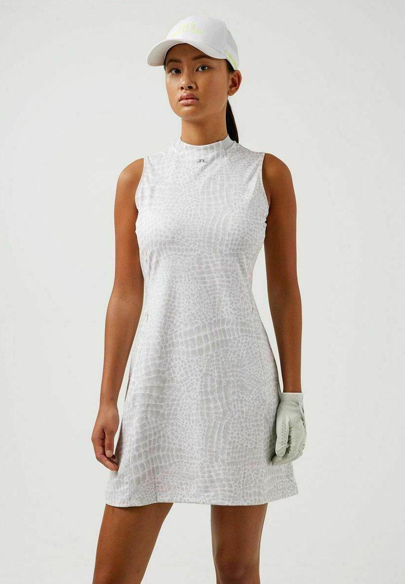 J.LINDEBERG - Jersey dress - micro chip croco