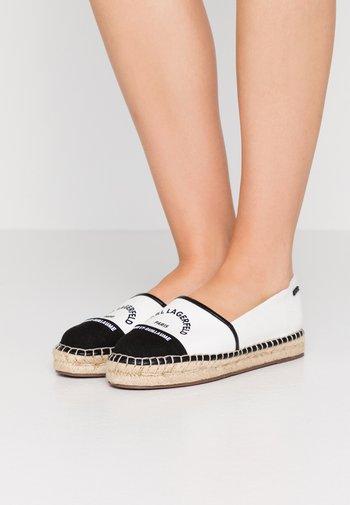 KAMINI MAISON SLIP ON - Espadrilles - white/black