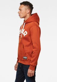 G-Star - VARSITY FELT HOODED LONG SLEEVE - Hoodie - cinnamon orange - 2