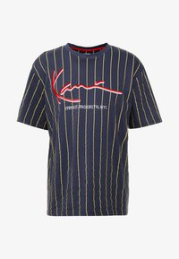 Karl Kani - SIGNATURE PINSTRIPE TEE - Camiseta estampada - navy/yellow/red - 3