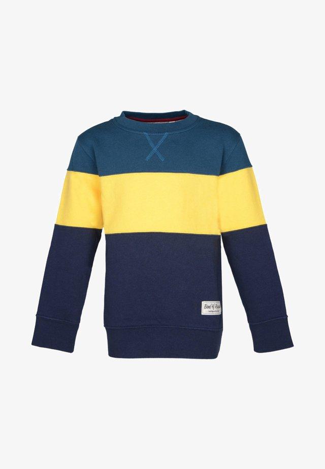 Sweatshirt - petrol/yellow