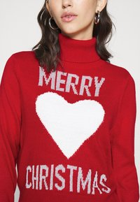 ONLY - ONLXMAS LOVE - Jumper - high risk red - 4