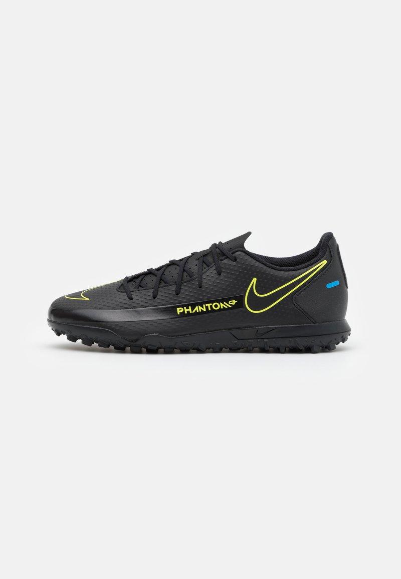 Nike Performance - PHANTOM GT CLUB TF - Astro turf trainers - black/cyber/light photo blue