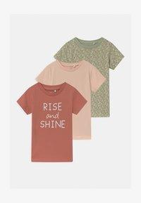 Name it - NBFBARBEL 3 PACK - T-shirts print - desert sage - 0
