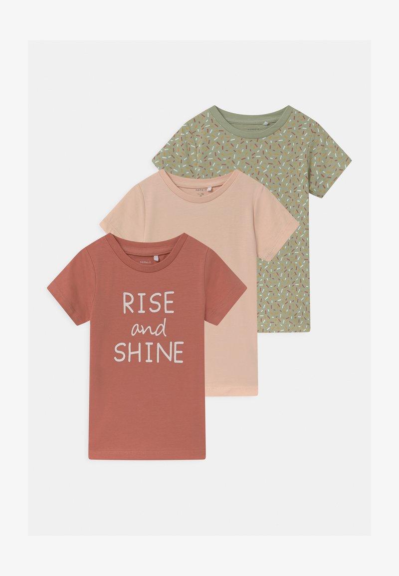 Name it - NBFBARBEL 3 PACK - T-shirts print - desert sage