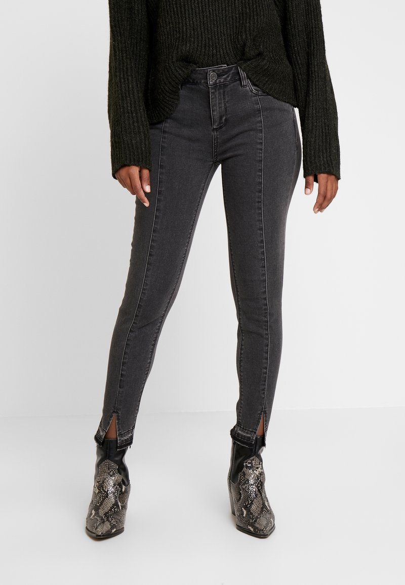 comma casual identity - TROUSERS - Jeans Skinny Fit - grey/black