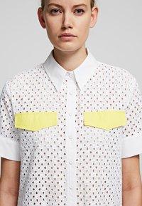 KARL LAGERFELD - Shirt dress - white - 4