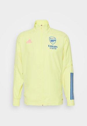 ARSENAL FC SPORTS FOOTBALL TRACKSUIT JACKET - Fanartikel - yellow tint
