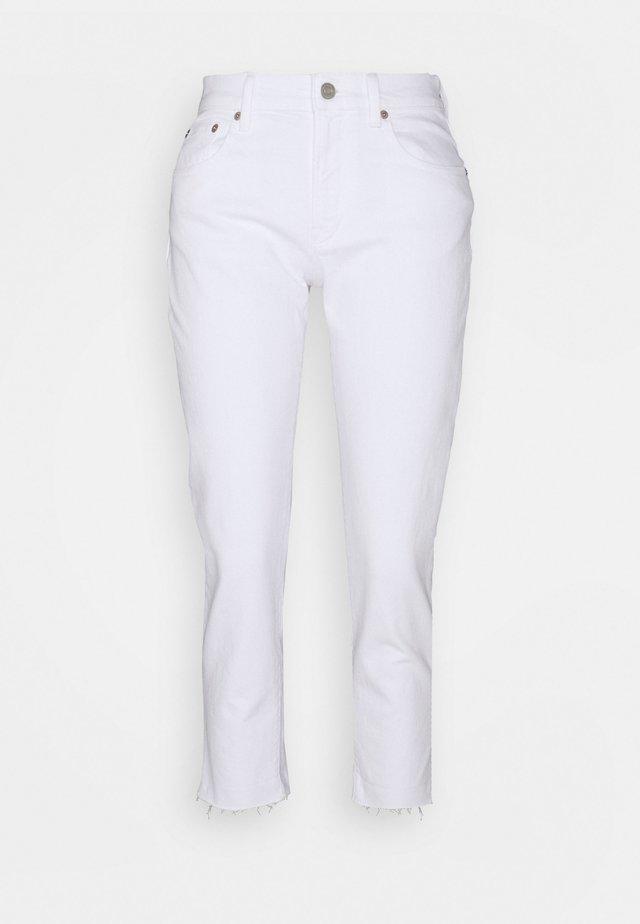OPTIC CUFF - Straight leg jeans - white global