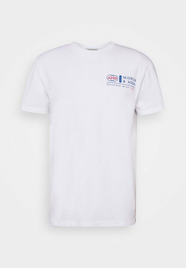 LOGO ARTWORK CREWNECK TEE - Print T-shirt - white