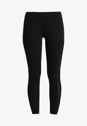 LADIES TECH STRIPE - Leggings - Trousers - black