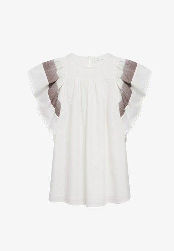 Denní šaty - blanc cassé