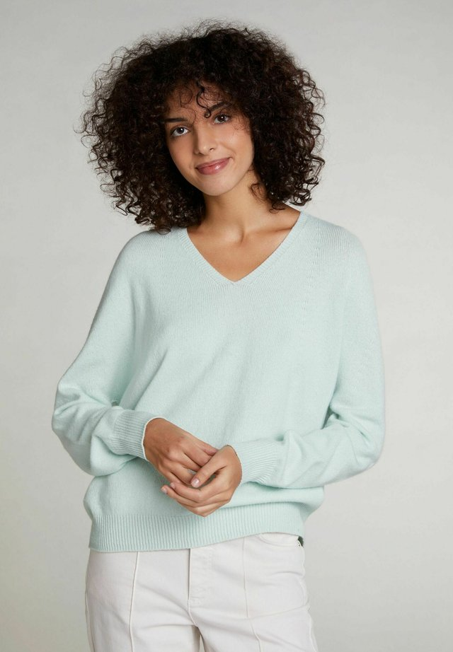 Pullover - clearly aqua