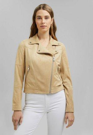 Faux leather jacket - sand