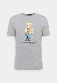 T-shirt med print - andover heather