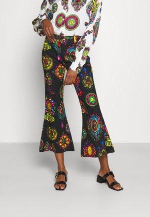 PANTS - Trousers - black/multi