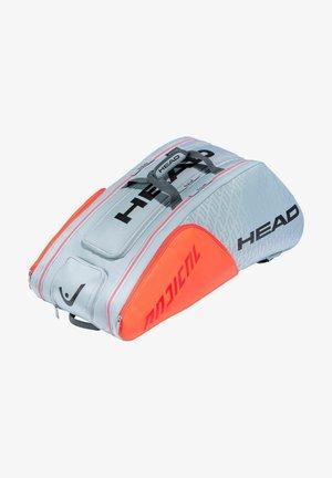 Racket bag - grau/orange