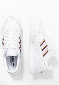 adidas Originals - TRAINER  - Tenisky - footwear white/glow purple/solar yellow - 3
