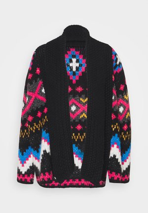 ST.GALLEN JACKET - Neuletakki - black/bright multi