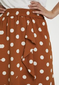 InWear - A-line skirt - roasted pecan polka dot - 3