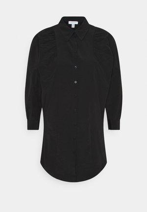 TEXTURED MINI - Robe chemise - black
