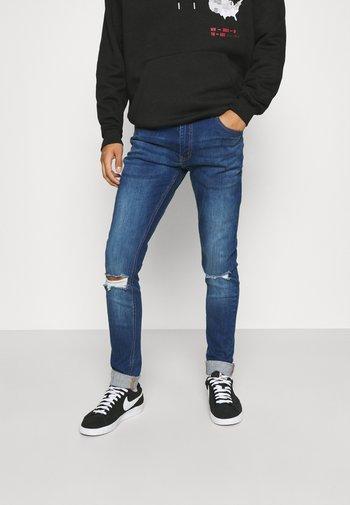 RIPPED SLIM FIT  - Slim fit jeans - blue