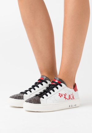 LULLABY - Zapatillas - blanc/rouge