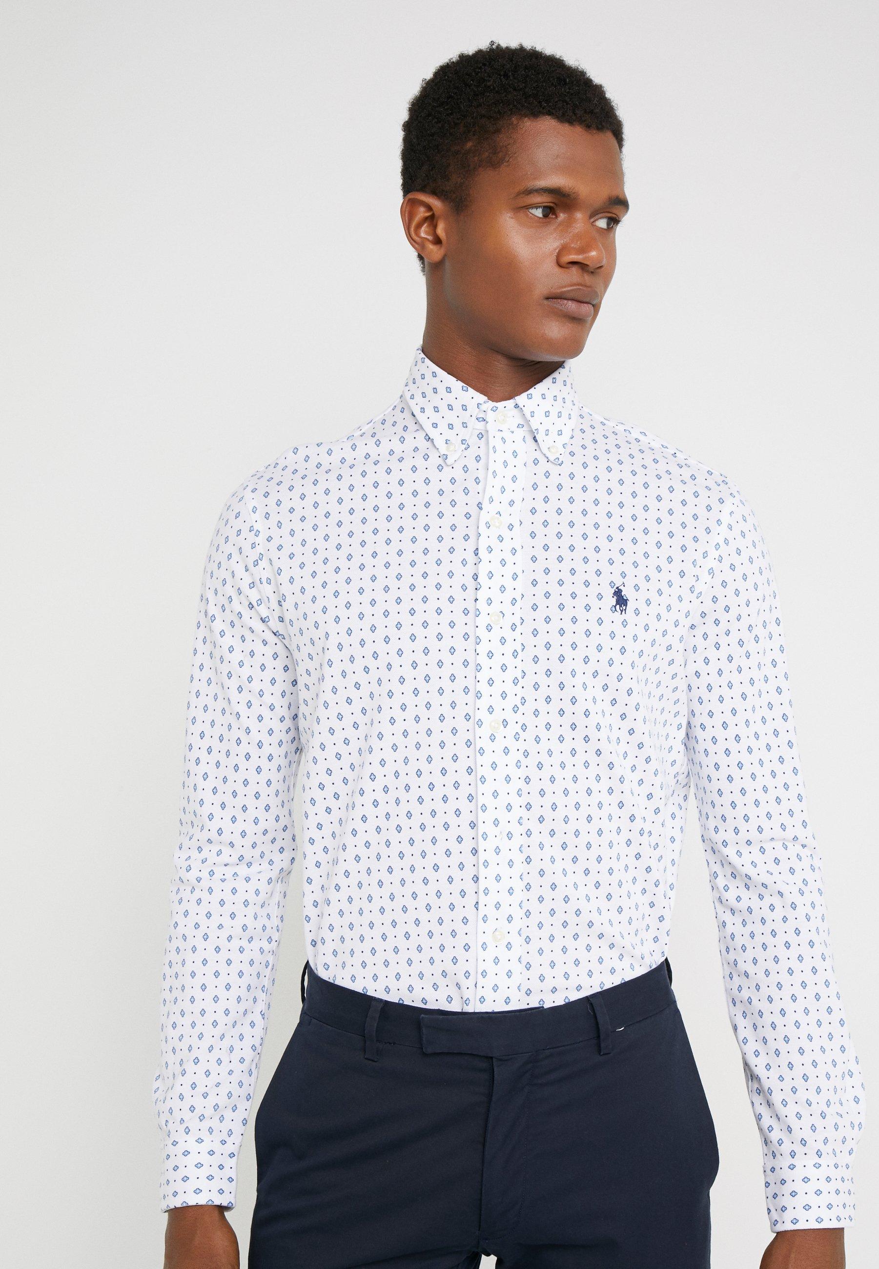 Polo Ralph Lauren FEATHERWEIGHT MESH - Hemd - white   Herrenbekleidung 2020