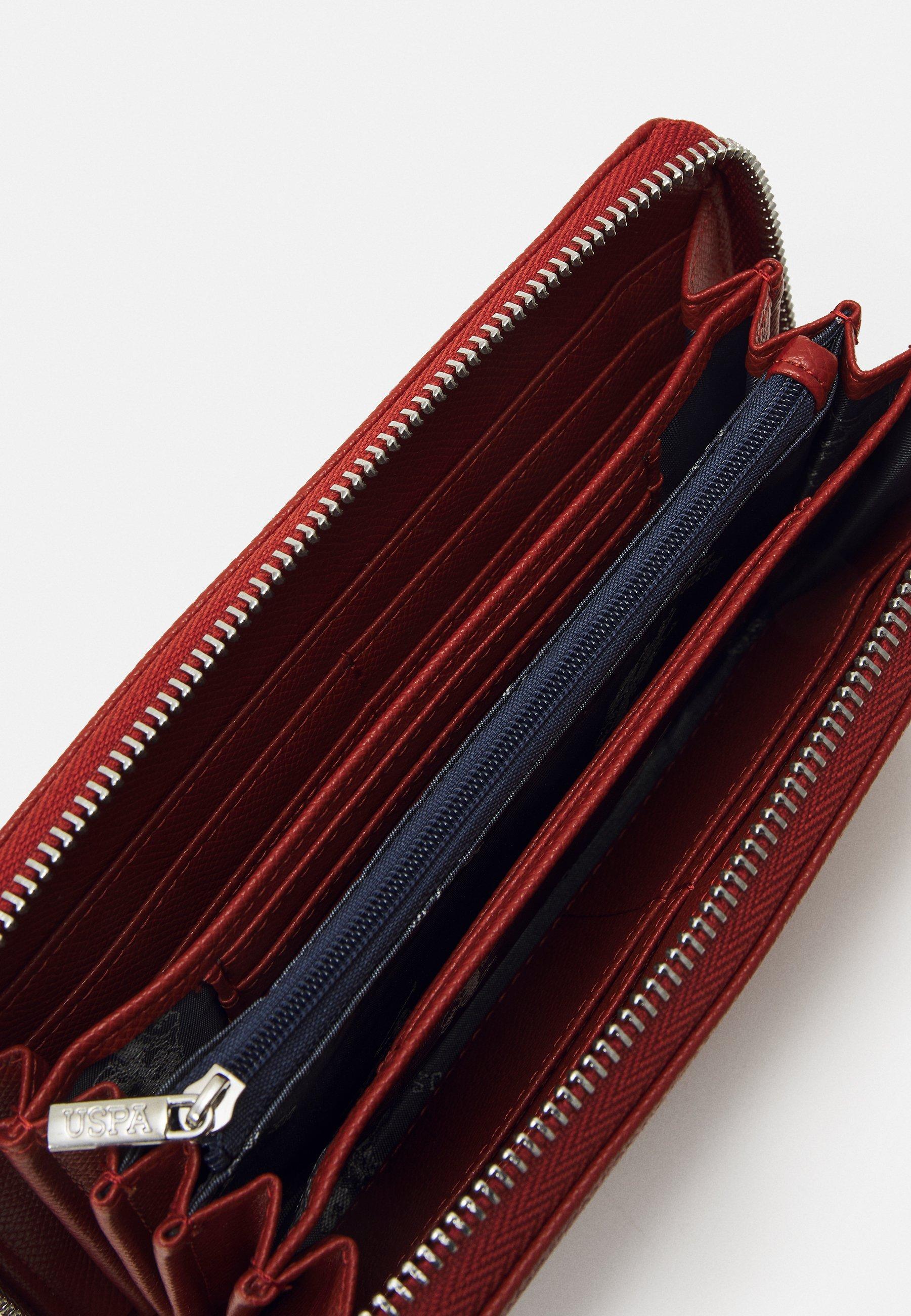 U.S. Polo Assn. JONES L ZIP ARD WALLET - Lommebok - rust/brun lUh4Dr1baATYJIW