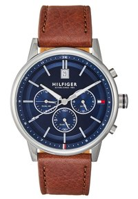 Tommy Hilfiger - CASUAL - Chronograph watch - cognac/silver - 0