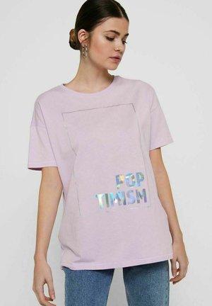 Print T-shirt - orchid bloom