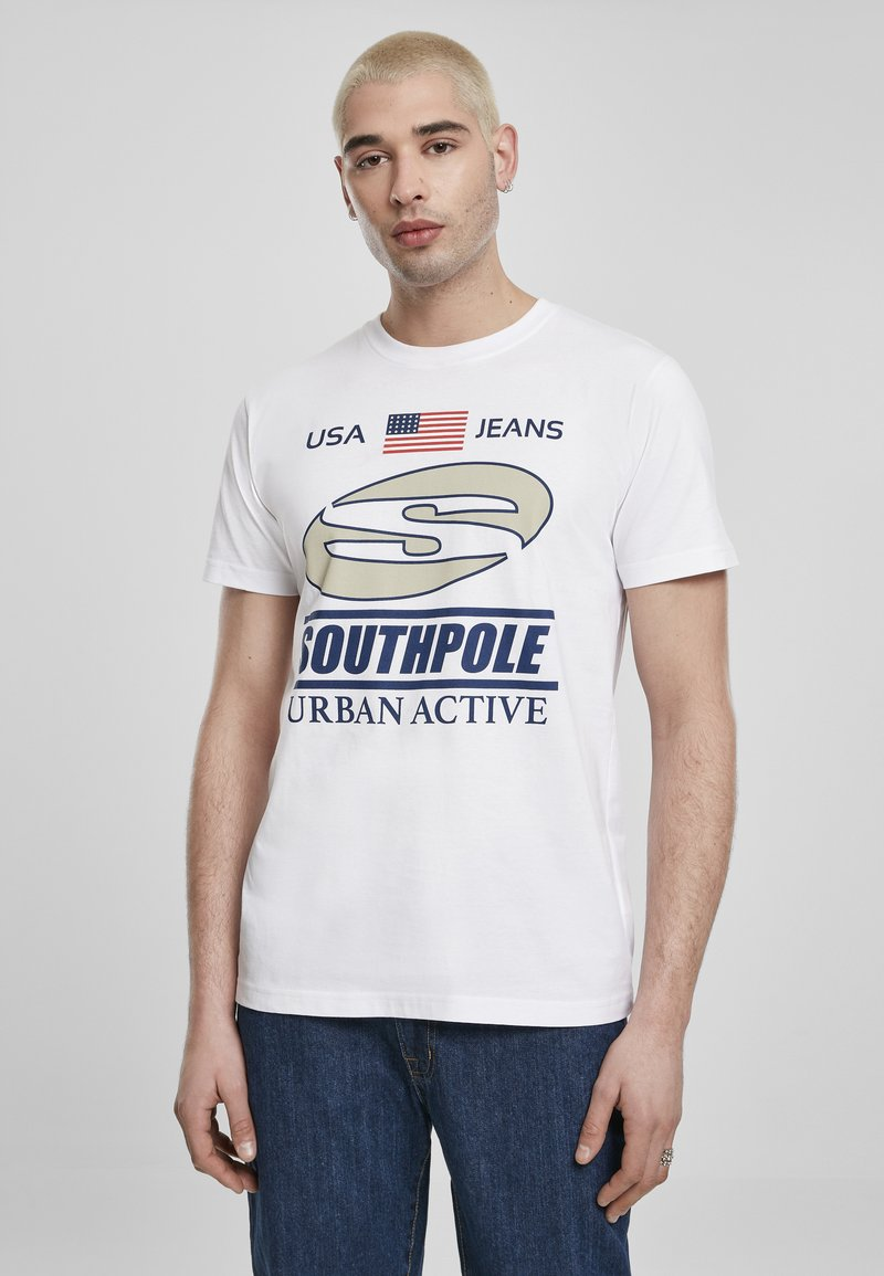 Southpole - SOUTHPOLE HERREN SOUTHPOLE URBAN ACTIVE TEE - T-shirt con stampa - white