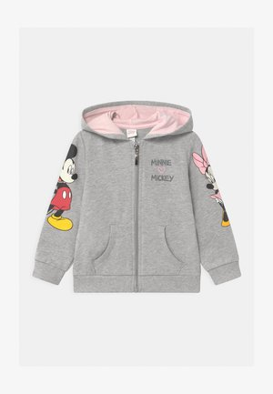 FULL ZIP MINNIE HOODIE - veste en sweat zippée - grey