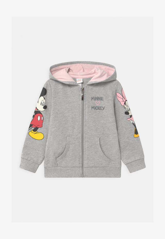 FULL ZIP MINNIE HOODIE - Felpa aperta - grey